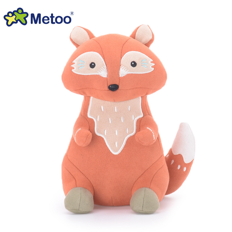 22cm Kawaii Plush Cute Cartoon Stuffed Backpack Pendant Baby Kids Toys For Girls Birthday Christmas Rabbit Bear Fox Metoo Doll