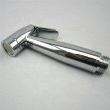 De carga de presión de cobre boquilla bidé de mano, baño bidet spray cromado, Tirar de la Cadena de usos múltiples/piso