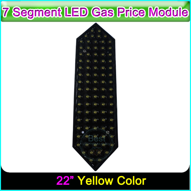 22 Yellow Color Temperature and Humidity LED Display Gas Price 7 Segment LED Display22 Yellow Color Temperature and Humidity LED Display Gas Price 7 Segment LED Display