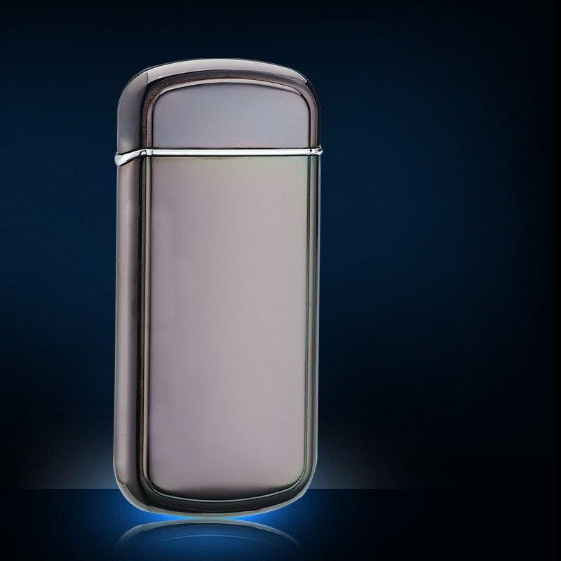 Дуговая Зажигалка двойной крест электрические с USB перезаряжаемая ветрозащитная Зажигалка без пламени для свечи пожарной сигареты на откр... - 5