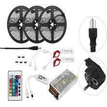 15M Non-waterproof LED Strip SMD5050 RGB Alexa APP Home Wifi Control Smart LED Strip Light Kit AC110-240V