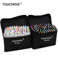 TOUCHFIVE 30 40 60 80 Color Artist Double Head Sketch Markers Alcohol Based Marker Art Marker