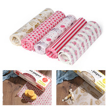 50PCS/Set 5 Styles Food Packing Wax Paper Waterproof Cake Macaron Greaseproof Sheet Wrap Food Wax Paper Kitchen Supplies(China)