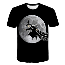 Skull Tshirt Men Halloween Witch T-shirt Punk Rock Clothes Anime 3d T Shirt Prints Blood Hip Hop Mens Clothing Summer Tops