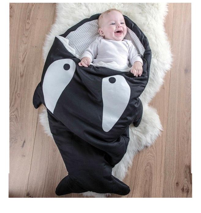 2018 Shark Newborn baby Sleeping Bag Sleeping Bag Winter Stroller Bed Swaddle Blanket Wrap Bedding Cute Baby Sleeping Bag insular baby shark sleeping bag winter newborn cute prams bed swaddle blanket wrap bedding baby sleeping bag