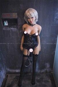 Image 5 - JY bebek 148 cm yuna tam TPE şişme kadın metal iskelet ile oldukça yetişkin kadın gerçek silikon seks bebek adam gerçekçi seks bebek