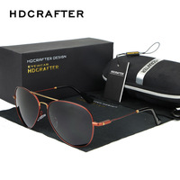 New 2016 HDCRAFTER Fashion Vintage Classic Leisure Sports Polarized Outdoor Aviator Gafas Fishing Sunglasses Man Brand