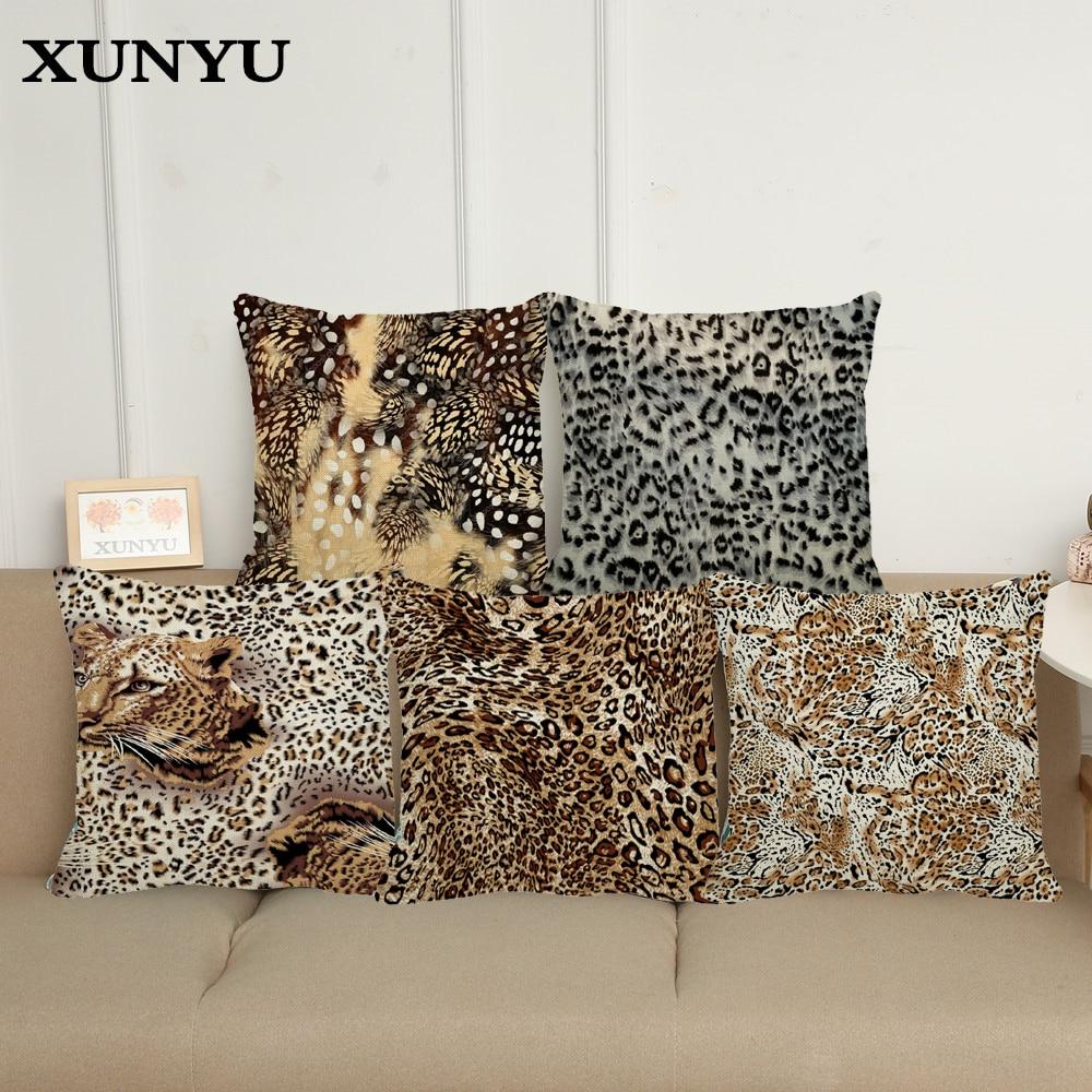 Phenomenal Us 4 65 Xunyu New Design Throw Pillows Animals Textures Zebra Leopard Tiger Linen Seat Cushion Cover For Sofa Decor Pillowcase In Cushion Cover From Uwap Interior Chair Design Uwaporg