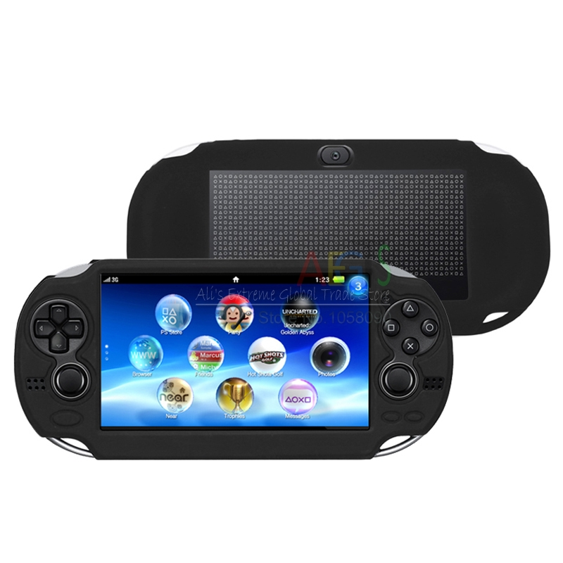 Black Silicone Case for PSV 1000 Silicon Gel PS Vita PSVita 1000 Protective  Case For Sony Psvita Game Case TPU Cover