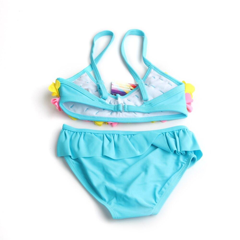 Imaka New Summer Kids Bikini Set Girls Flower Bathing Suit Two ...