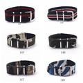 Hot Sales Military Army nylon strap durable  fashion sport watch band 18/20/22 mm correas para reloj