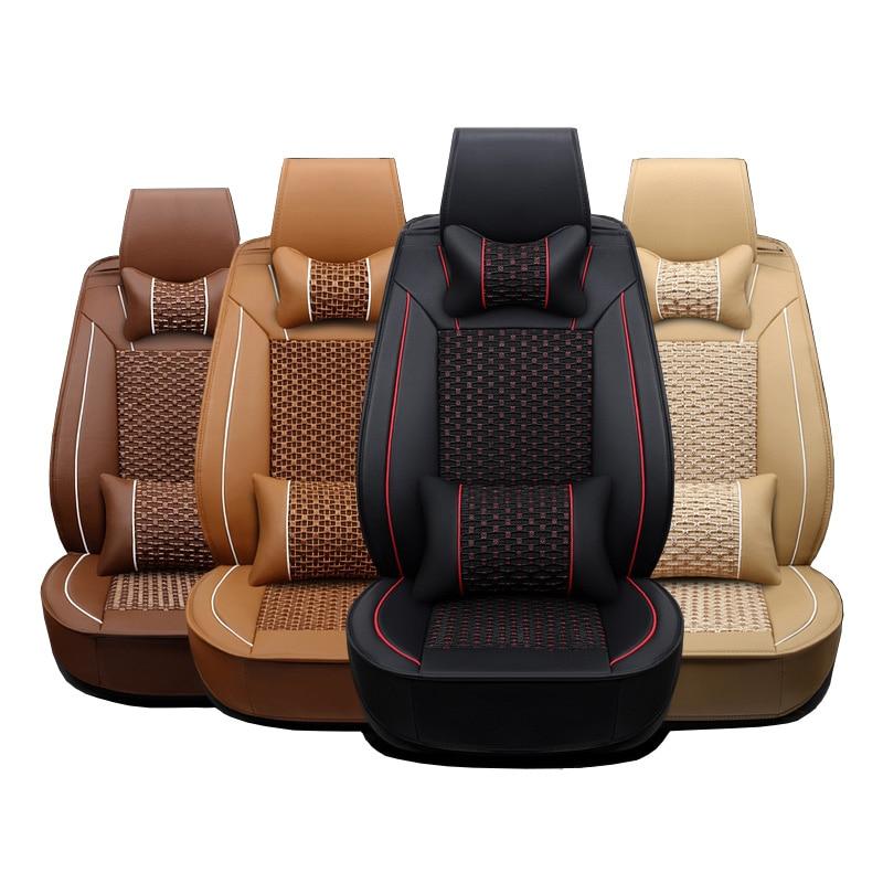 Кожаные чехлы для сидений автомобиля для Hyundai ix35 ix25 Соната Santafe Tucson Elantra Акцент Verna i30 автомобильные Аксессуары Укладка