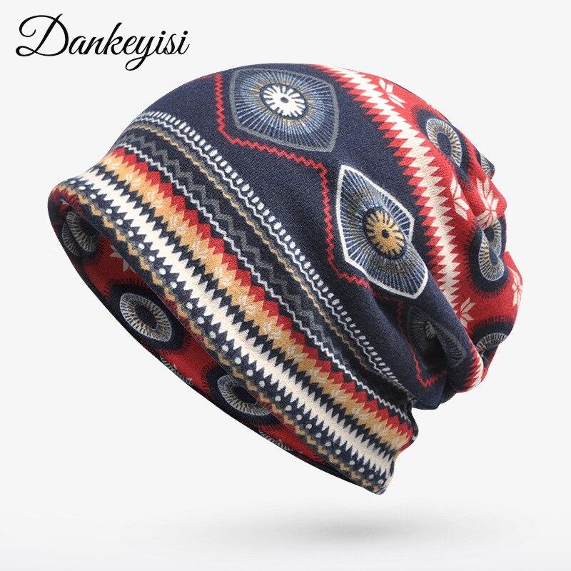 DANKEYISI Ponytail Beanie Hat Women Knit Cap Winter Skullies Beanies Warm Caps Female Knitted Stylish Hats For Ladies Fashion