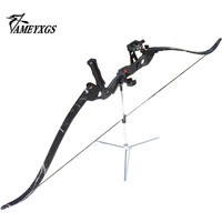 35Lbs 40Lbs 45Lbs Recurve Bow Triangle Bow Composite Materials Archery Bow Set Brush Arrow Rest Black Bow Stabilize Bow Sight