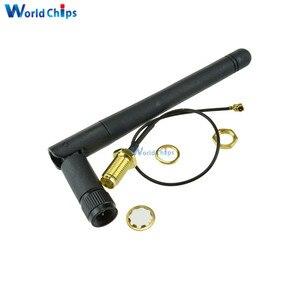 Беспроводной Удлинительный кабель для антенны SMA 2, 4G, 3DBI антенна с усилением для модуля NRF24L01 PA CC2500, 20 см, Кабель-адаптер IPX для Arduino