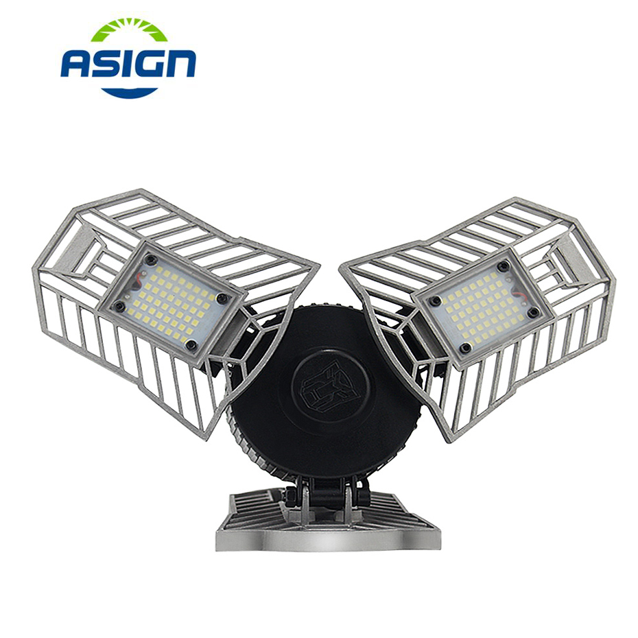 Led Deformable Lamp Garage Light 60W E27 110 240V 6000 ...