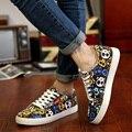 Homens sapatos de lona sapatos masculinos star impresso flats calçados casuais alpercatas plimsolls baixo top crânio lazer shoes zapatos hombre xk021403