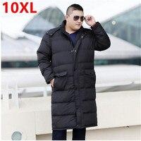 Winter lange unten jacke hoch große größe fett XL mantel Overknee 10XL 9XL plus größe lange absatz männlichen winter kleidung 8XL 7XL 6XL
