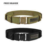 FREE SOLDIER Outdoor Camping Hiking Sport Wear resistant Military Tactical Belt Men Accessories Belts Untie Quick Release Buckle
