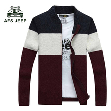 2017 Famous brand zipper sweater winter sweater stand collar cardigan young men man knitting sweater coat hit color 75wy