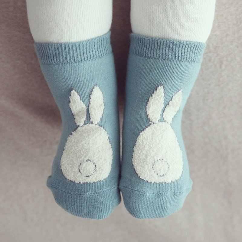 0-3Y Infant Baby Slipers Floor Cotton Socks Boys Girls kids Cute Cartoon Animal Rabbit Rat Bear Sock 2 Color P2