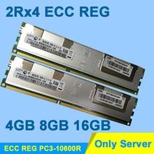 Dla DDR3 Hynix 4 GB 8 GB 16 GB 2Rx4 PC3-10600R ECC DDR3 1333 MHz REG Pamięci RAM DDR 3 1333 Tylko Dla Serwera RDIMM Dożywotnia gwarancja