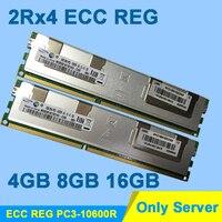 Server Memory For Samsung Hynix DDR3 4GB 8GB 16GB DDR3 1333MHz PC3 10600R 2Rx4 ECC REG