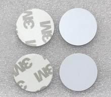 500pcs RFID tags EM4100 3M rodada cartão ID tag, Cartão LOS 25 Diâmetro mm comprimento