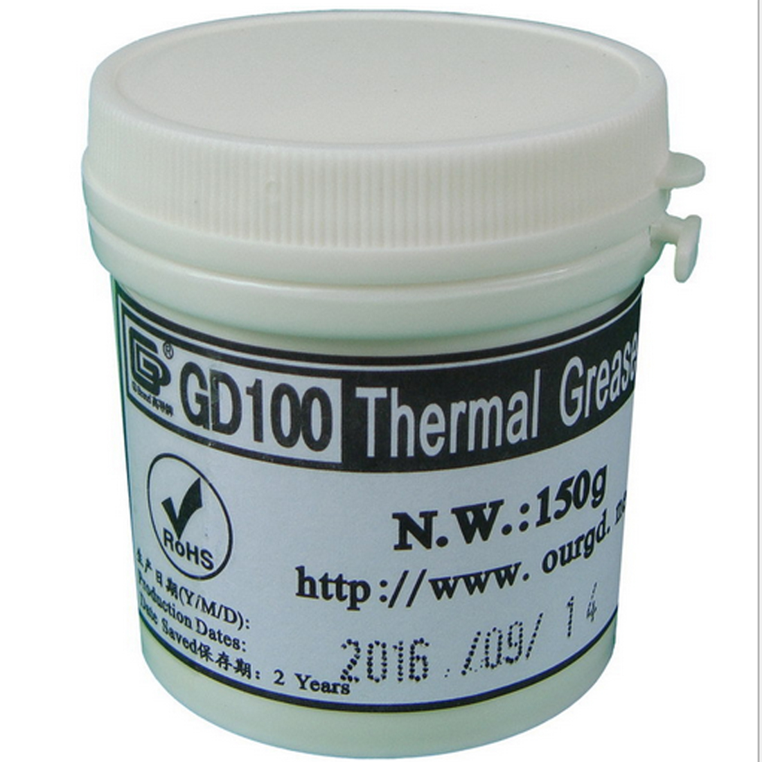 NOYOKERE Hot Heat Sink Plaster Compound GD100 Thermal Conductive Grease Paste Silicone Net Weight 150 Grams White For CPU CN150