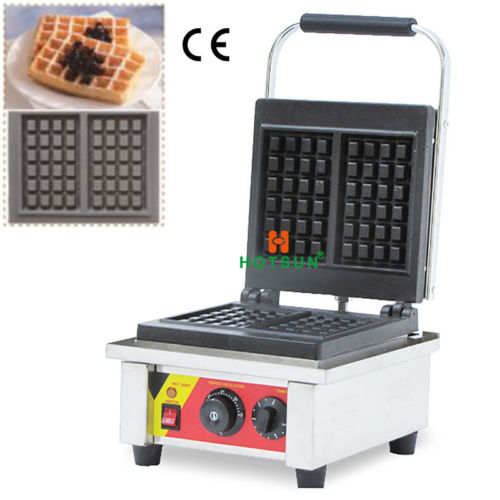 Commercial Non-stick 110V 220V Electric Belgian Liege Waffle Maker Iron Machine