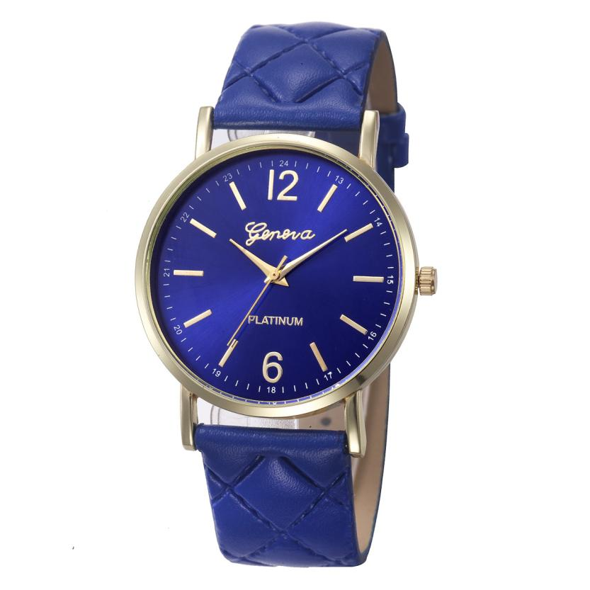 Geneva Roman Women Watch Fashion Casual Women Leather Band Quartz-Watch Ladies Elegant Watch Clock reloj mujer #D