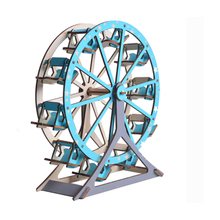 DIY Model toys 3D Wooden Puzzle-Ferris wheel Wooden Kits Puzzle Game Assembling Toys Gift for Kids Adult P16