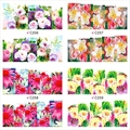 12 Лист Павлин Цветок Дизайн Watermark Красоты Nail Art Советы Наклейки Полный Обертывания Вода Трансфер Наклейки Наклейки Для Ногтей JH369