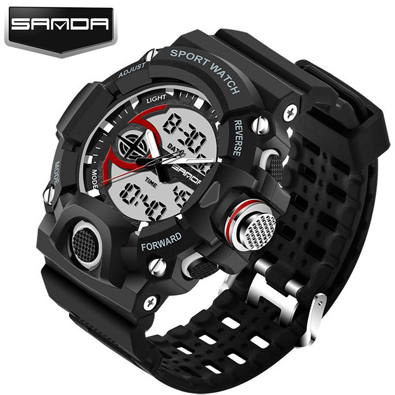 Military Sport Watch Men Watches Top Brand Luxury Famous Electronic LED Digital Wrist Watch For Men Male Clock Relogio Masculino led digital sport students children watch kids watches boys girls clock child electronic wrist watch for boy girl surprise gift