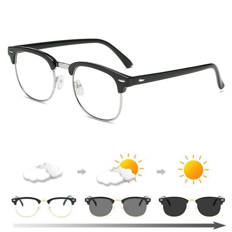 ebaca2ddc800 Anti Blue light Photochromic Finished Myopia Glasses Photosensitive  Chameleon Anti glare Change Color Lens Prescription Glasses-in Women's  Prescription ...