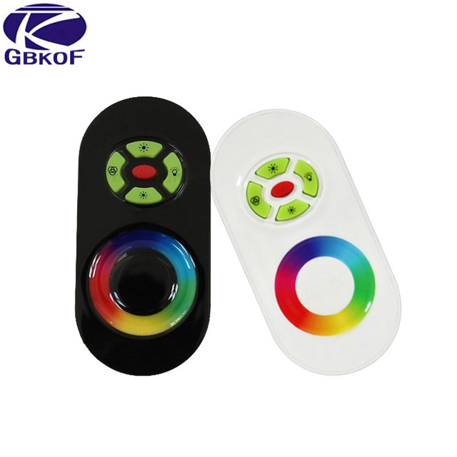 DC 12V-24V Wireless RF Touch Panel Dimmer RGB Remote Controller 18A RGB Controller for 3528 5050 RGB LED Strip Light
