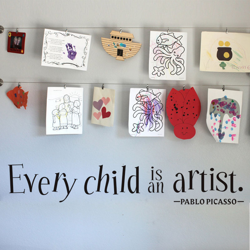 DCTOP Every Child is an Artist Decal Vinyl Wall Sticker Bedroom Baby Kids Playroom Home  ...