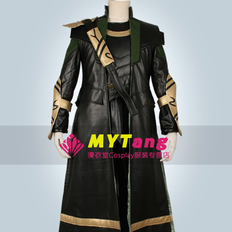 Movie Marvel's The Avengers Thor Loki Uniform Cosplay Costume Halloween Outfit Full Set