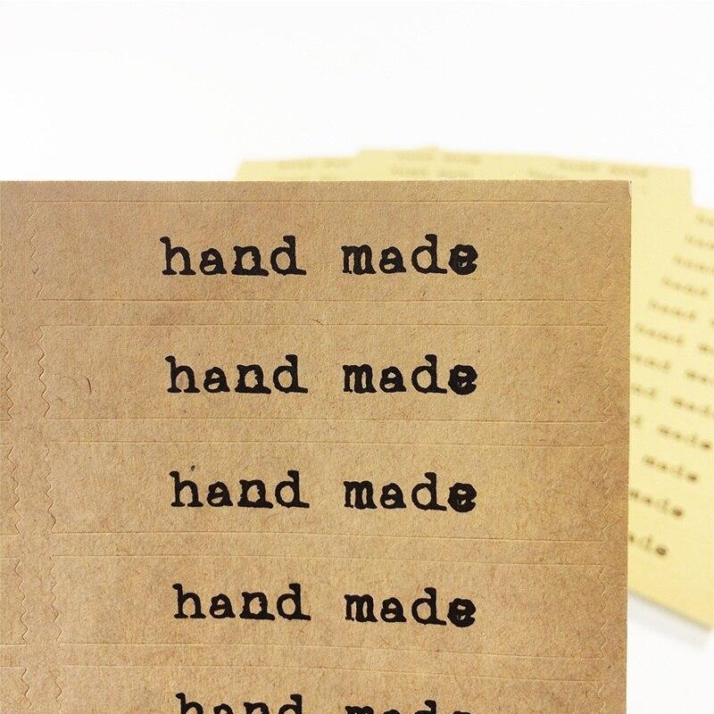 600 Pcs/lot DIY Scrapbooking Kraft Paper Labels Stickers Baking Food Hand Made Envelopes Sealing Sticker
