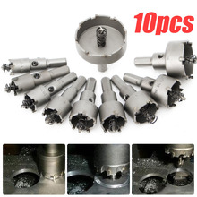 цена на 10pcs 16 - 50mm Carbide Tip TCT Drill Bit Hole Saw Stainless Steel Alloy Tools