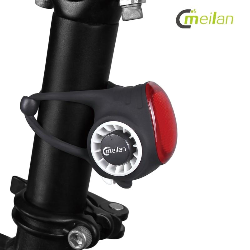 Meilan S3 Bicycle Taillight COB Lighting Source Bicycle Smart Wireless Remote Control 150 Decibel Electric Bell Burglar Alarm