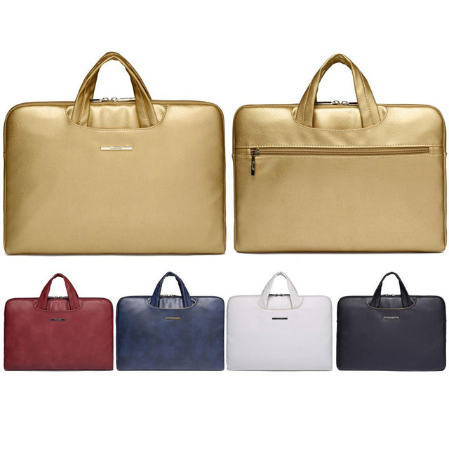 Luxury New 13 14 15 15.6 Inch Leather Laptop Notebook Sleeve Bag Case Men    Women e0e499667