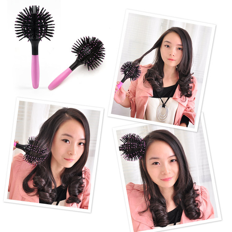 Hot Sale 3D Massage Comb Spherical Comb Curly Hair Comb Pear Length Hair Styling Tools