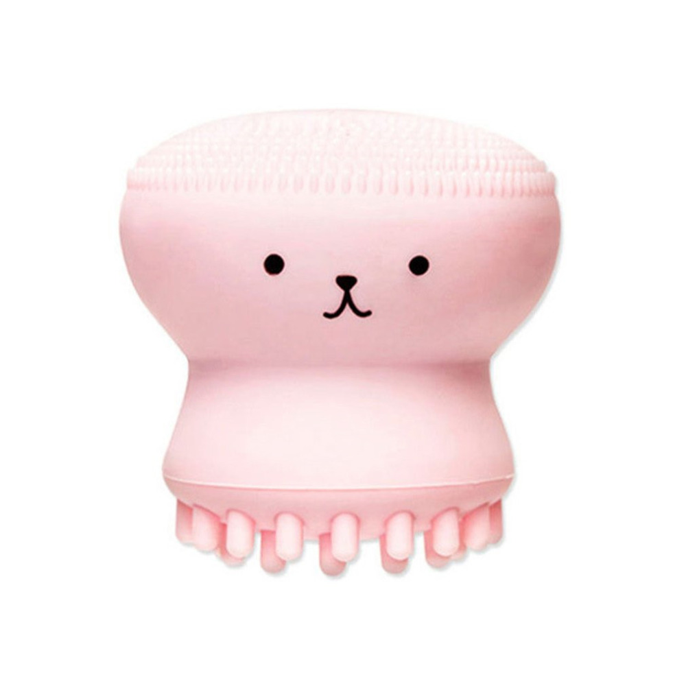 Cute Jellyfish Wash Brush Soft Silicone Face Massage Exfoliating Facial Brush Face Cleanser, Massage Deep Pore Cleansing Brush jellyfish jellyfish bellybutton deluxe edition 2 cd