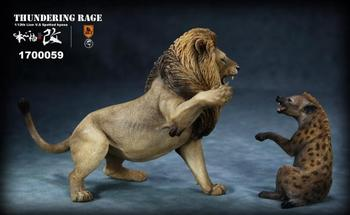 Collectible 1/12 Collectible Resin Anime Figure Mr.Z Animal Thunderfury African Lion VS Spotted Dog Set Toys Model for Fans Gift 1
