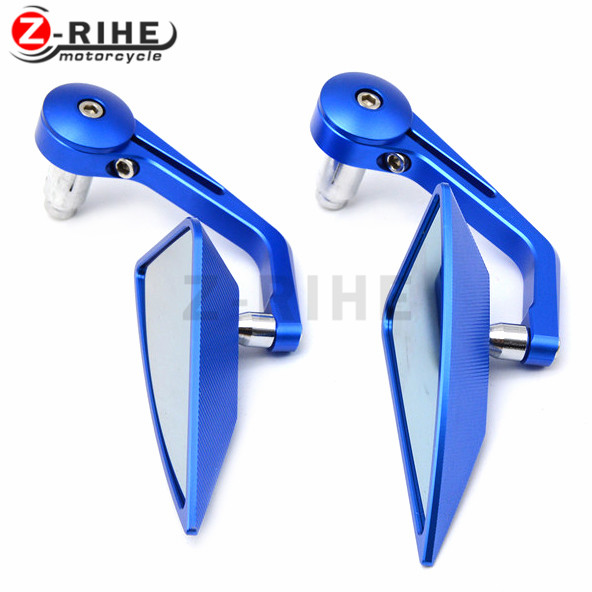 For Motorcycle Bike Rearview Mirror Side Mirror With 7/8 Handlebar CNC Aluminum For Triumph Street Triple 675/R mit Radialp 20