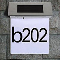 4LED Stainless Steel Solar  Illuminated House Number  Door Wall Solar Led House Numbers Plaque Light lamp