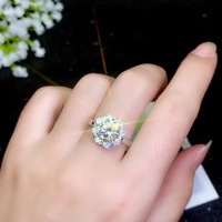 Fashion style, simplest style, various sizes of moissanite, 925 silver lady's ring.