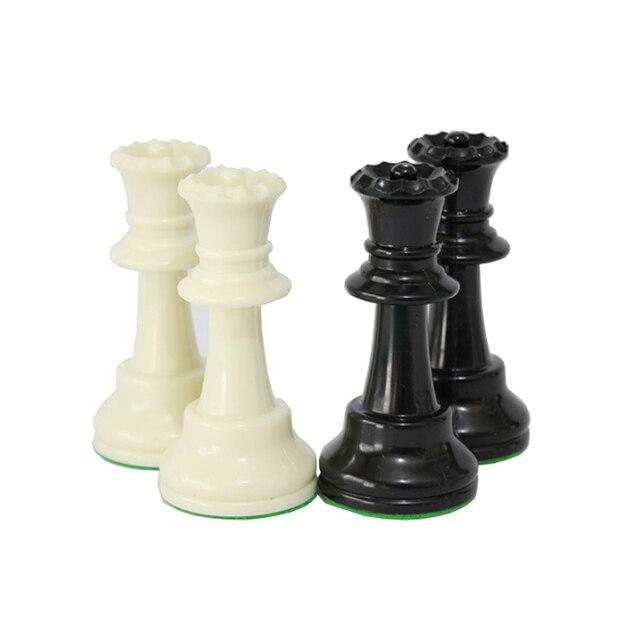 Jeu d'échecs Standard International, compétition King de 97mm, grand jeu d'échecs en plastique avec 4 jeux de société queen qenueson 5