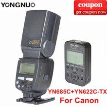 YONGNUO TTL Flash Speedlite YN685+YN622C-TX / YN622N-TX Flash Trigger 2.4G HSS 1/8000s Radio Slave Mode for Canon Nikon